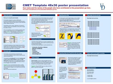 Powerpoint Poster Templates 48x36 by Ppt Cmet Template 48x36 Poster Presentation Powerpoint