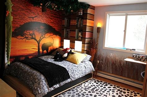 kids theme bedrooms african inspired interior design ideas