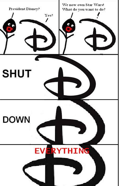 Shut Down Everything Meme - disney star wars shut down everything meme by