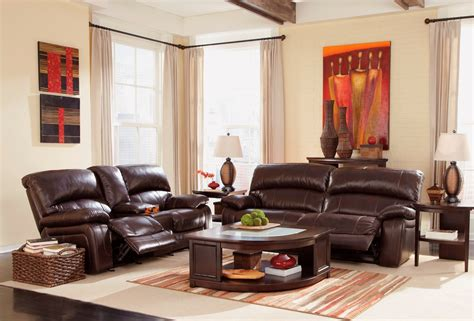 Damacio Dark Brown Power Reclining Living Room Set From Reclining Living Room Sets