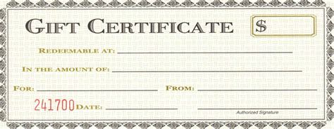 free business certificate templates free business gift certificate template template