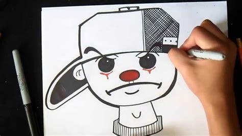 imagenes chidas y faciles para dibujar c 243 mo dibujar payaso con gorra graffiti wizard art by