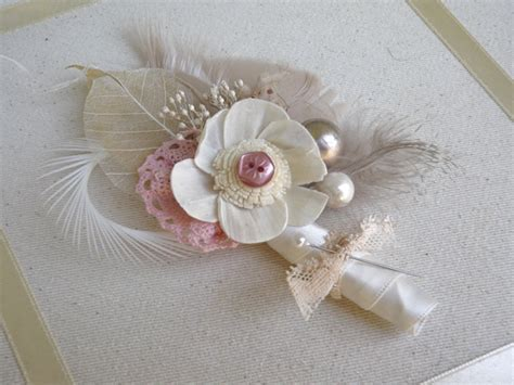 Handmade Corsage And Boutonniere - diy feather boutonni 232 res ruffled