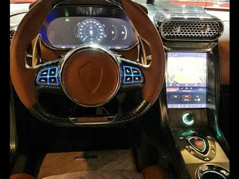 koenigsegg regera interior koenigsegg regera interior at monterey car week show youtube