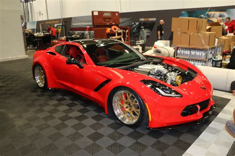 widebody corvette c7 wide c7 corvette at 2016 sema show makes debut at