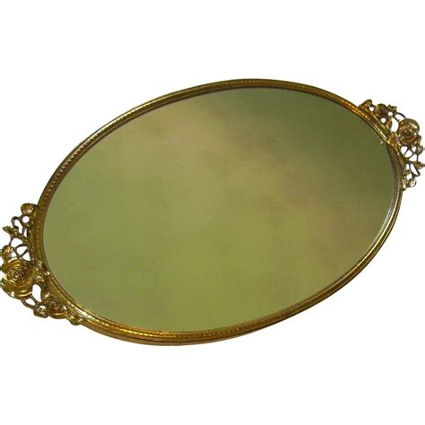 mirrored bathroom tray vintage mirrored vanity tray by stylebuilt from