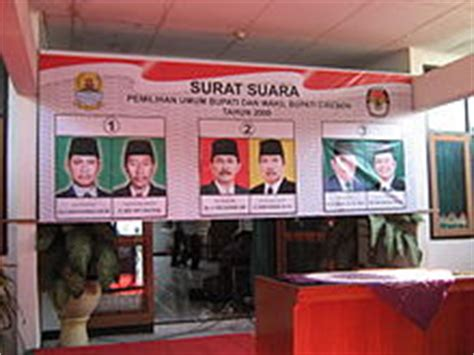 pemilihan umum bupati cirebon 2008 bahasa