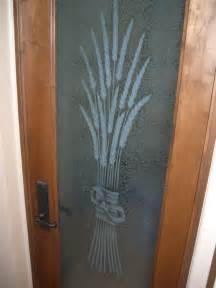 pantry doors pantry door etched glass wheat designs