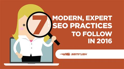 Seo Practices 2016 by 7 Modern Expert Seo Practices To Follow In 2016