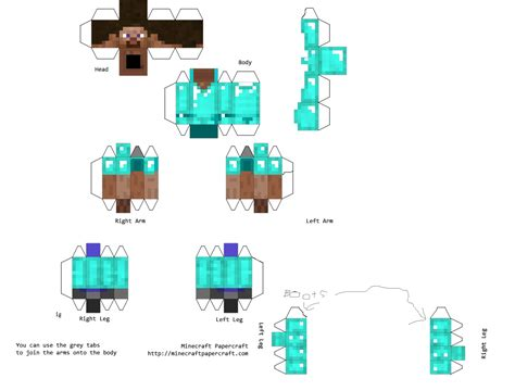 How To Print Minecraft Papercraft - papercraft steve with armour