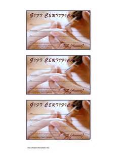 nail gift certificate template free manicure pedicure gift certificate template free