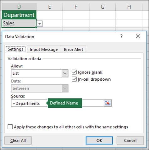 excel data validation list from table apply data validation to cells office support