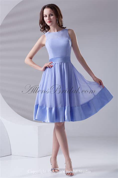 Cocktail Dress A Line allens bridal chiffon neckline a line knee length sash cocktail dress