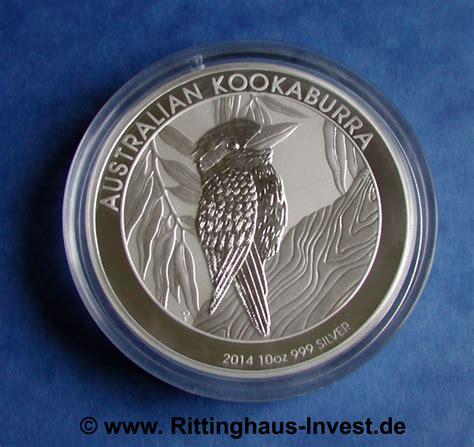 10 oz 2014 australian kookaburra silver coin australian kookaburra 2014 10oz silver coin