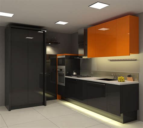 orange kitchens orange black kitchen