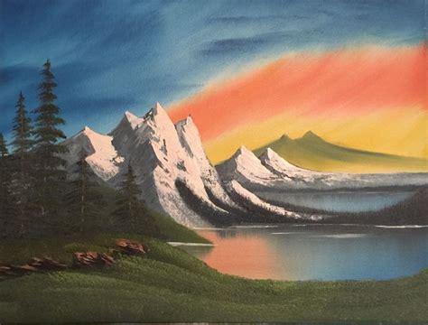 bob ross paintings sunset sunset serenity everett boyer bob ross style paintings