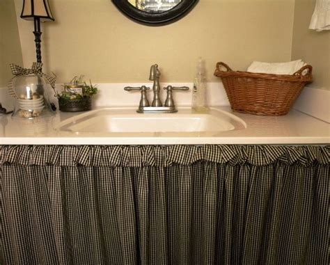 under bathroom sink curtain under sink skirt curtain arts crafts creativity