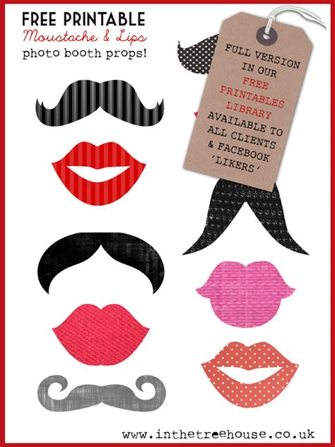 Free Printable Photo Booth Props Template
