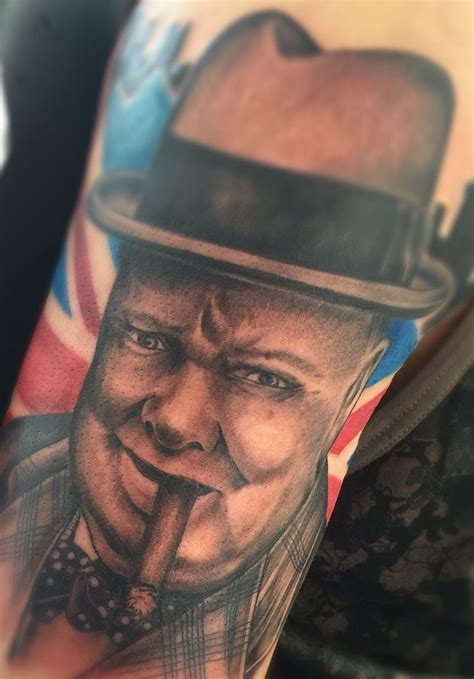 winston churchill tattoo and wonderful tattoos imagined in derby derbyshire