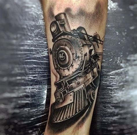 train track tattoo 70 tattoos for masculine railroad designs