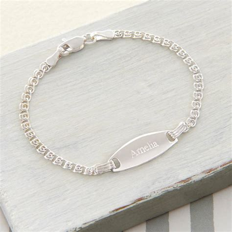 Tales From The Earth Silver Bracelet At Asos by Personalised Sterling Silver Baby Id Bracelet By