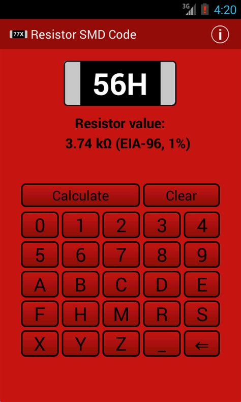 resistor value calculator smd resistor smd code calculator android apps on play