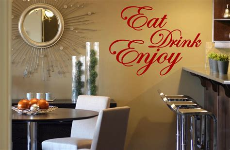 eat drink enjoy quote vinyl stickers wall decorations mural decal decor uk ebay