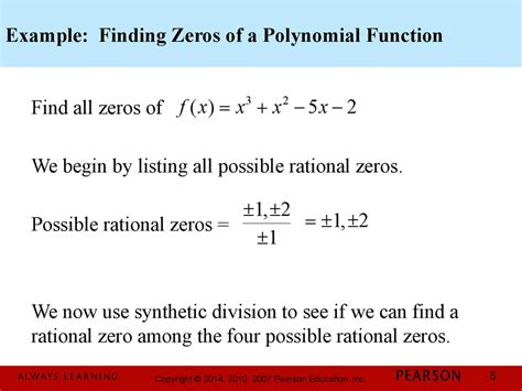 find rational zeros chapter 3 polynomial and rational