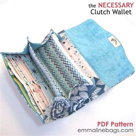 Fasy Small Flap Wallet Huer the necessary clutch wallet pattern to sew
