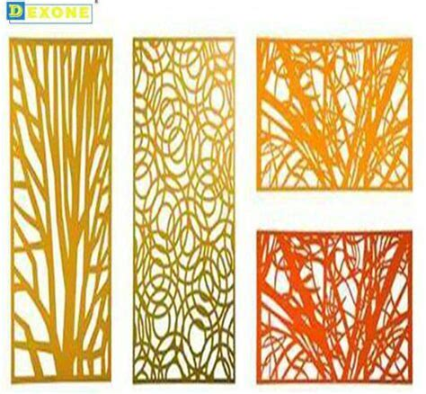 cnc metal fence decorative perforated laser cut panels screen
