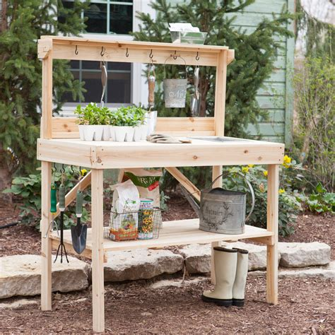 potting bench with sink potting benches shop garden potting benches at hayneedle com