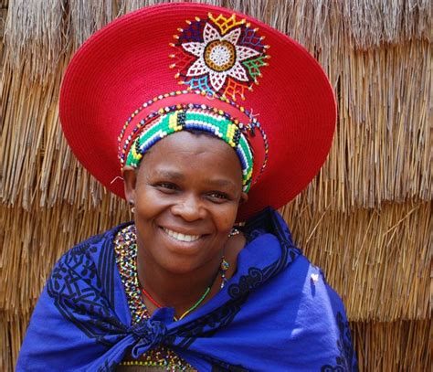 south african zulu hat africa woman wearing her traditional zulu hat south