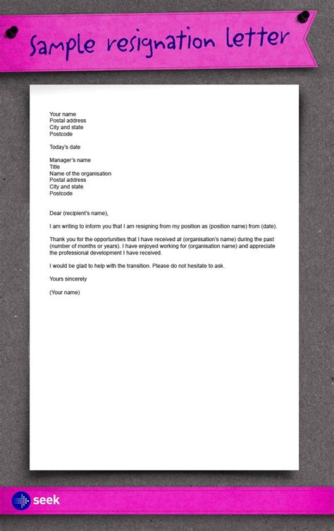 write resignation letter date