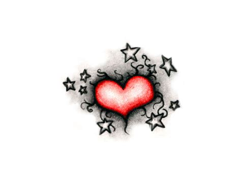 heart and star tattoo and cool tattoos bonbaden