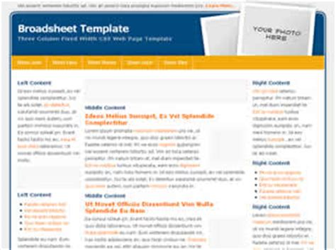 free css 2471 free website templates css templates and broadsheet free website template free css templates