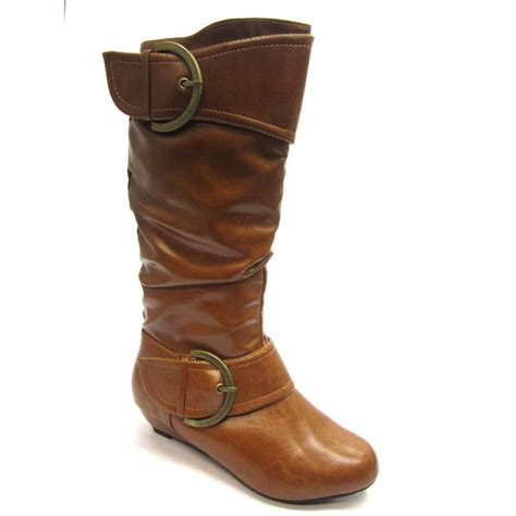blue wide calf boots blue s mid calf buckle detail boots by