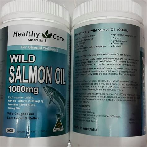 Healthy Care Fish 400softgel Australia healthy care salmon 1000mg 500 kapsul