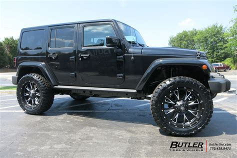 Jeep Wrangler Gas Jeep Wrangler With 22in Fuel Throttle Wheels Exclusively