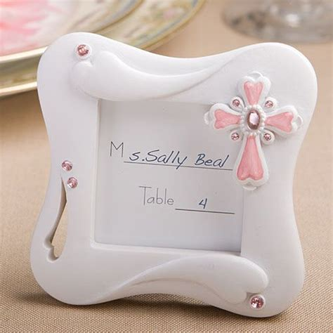 Christening Giveaways Baby Girl - pink cross photo frame favors communion favors pinterest