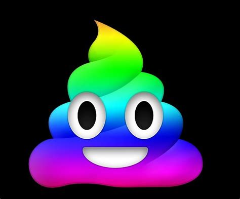 rainbow smiling poop emoji posters  winkham redbubble