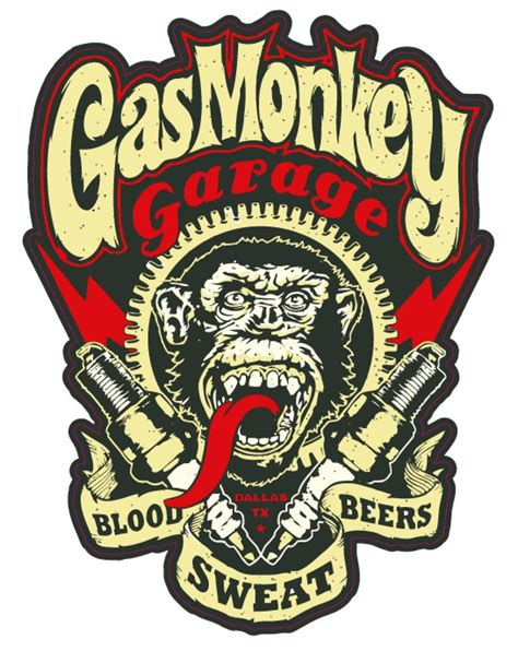 Gas Monkey Garage Decal by Gas Monkey Garage Blood Sweat Beers 6 Quot Vinyl Decal Bumper
