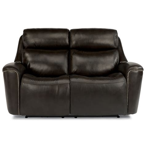 power reclining sofa with adjustable headrest flexsteel latitudes mystic 1471 60ph power reclining