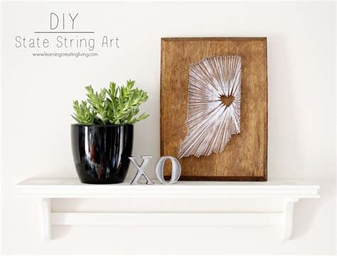 Diy State String - state string sugar bee crafts