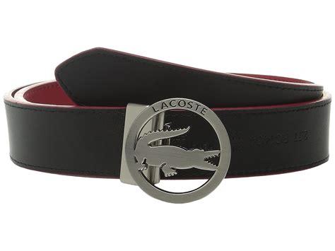 lacoste premium leather belt lacoste cutout buckle
