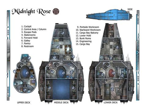 Spaceship Floor Plans | serenity rpg ship layout floor plans main deck plans