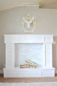 make a faux fireplace that looks absolutely functional