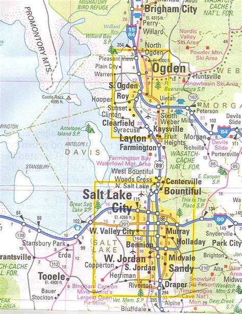 map world slc ut maps salt lake city area map