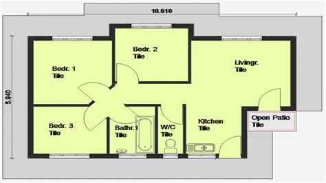 small three bedroom house bedrooms house plans