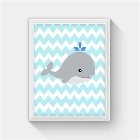 Whale Nursery Decor by Baby Whale Nursery Decor Instant Whale Printable