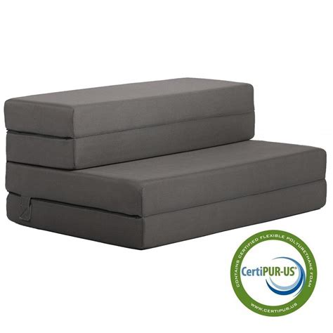 factory direct 4inch folding portable mattress sofa bed